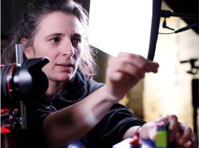 Irene Iborra animant amb stop-motion